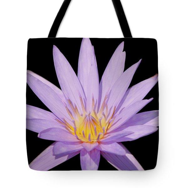 Purple Water Lily Tote Bag by Kim Hojnacki
