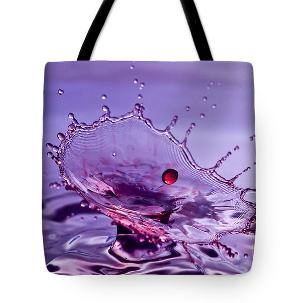 Purple Water Splash Tote Bag