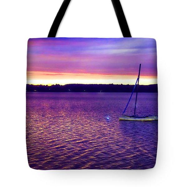 Purple Waters  Tote Bag