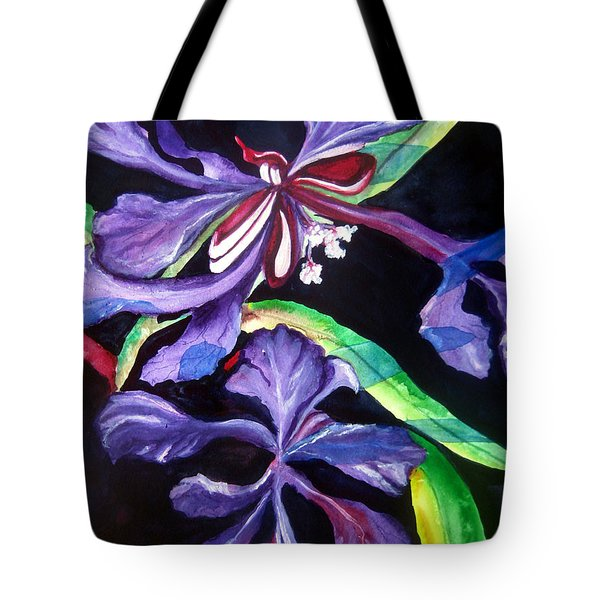 Purple Wildflowers Tote Bag