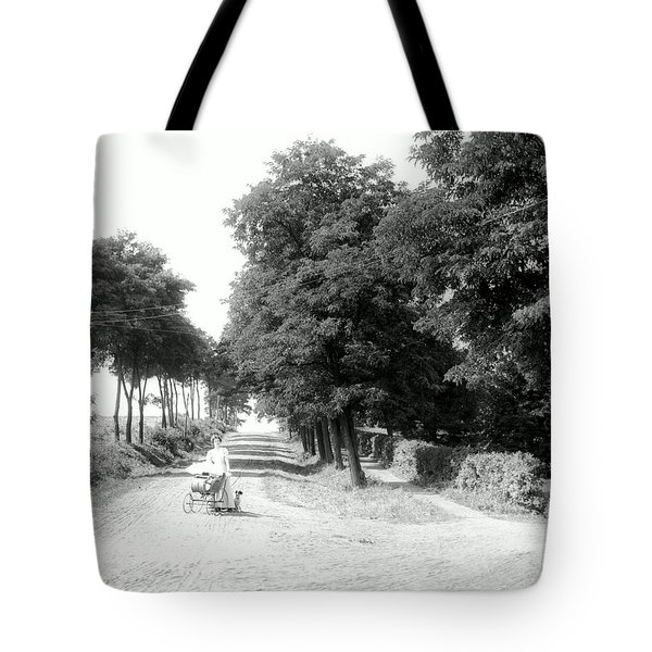 Pushing Baby Carriage Tote Bag
