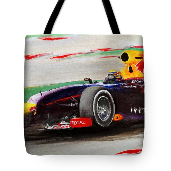 Tote Bag featuring the painting Pushing Hard by Chris Fraser