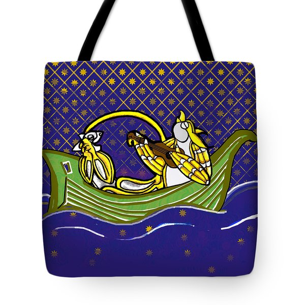 Pussycat And Owl Stars Tote Bag