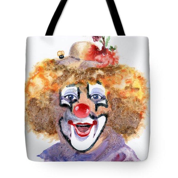 Put On A Happy Face Tote Bag by Marsha Elliott