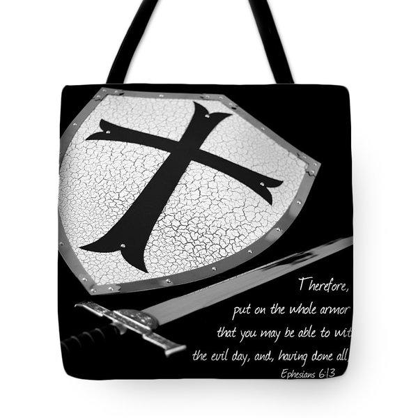 Put On The Armor Ephesians 6 Tote Bag