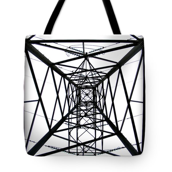 Tote Bag featuring the photograph Pylon by Nina Ficur Feenan