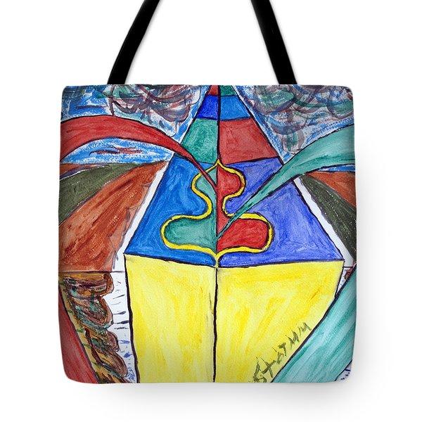 Pyramid Base Tote Bag by Stormm Bradshaw