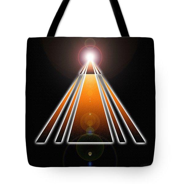 Pyramid Of Light Tote Bag by Derek Gedney