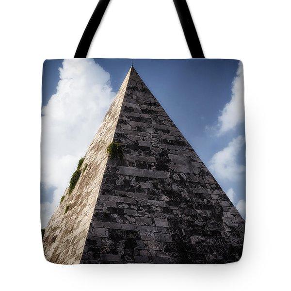 Pyramid Of Rome Tote Bag by Joan Carroll