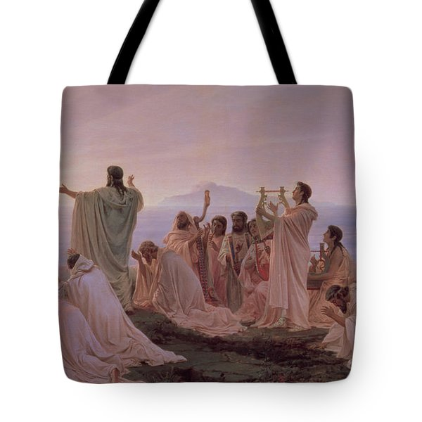 Pythagoreans' Hymn To The Rising Sun Tote Bag by Fedor Andreevich Bronnikov