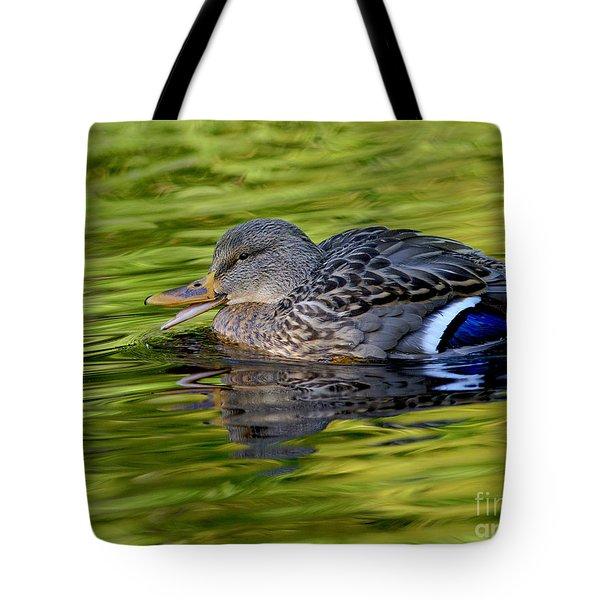 Quack Tote Bag by Sharon Talson