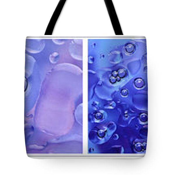 Tote Bag featuring the photograph Quadryptich Of Colorful Water Bubbles by Peter v Quenter