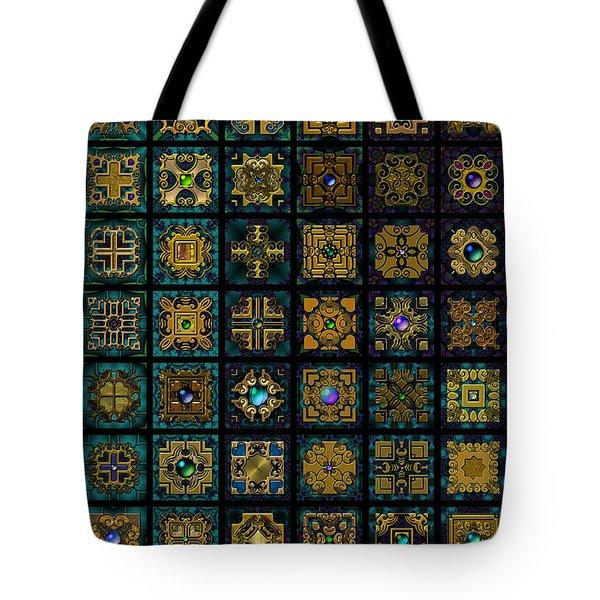 Quadtiles One Dingbat Quilt Tote Bag