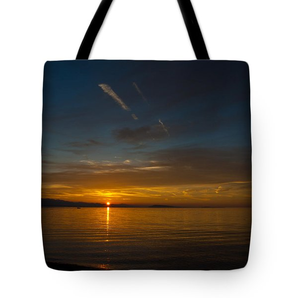 Qualicum Sunset II Tote Bag by Randy Hall