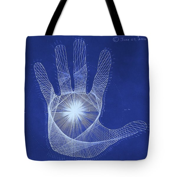 Quantum Hand Through My Eyes Tote Bag