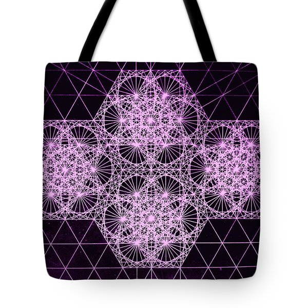 Quantum Snowfall Tote Bag by Jason Padgett