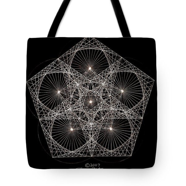 Quantum Star II Tote Bag by Jason Padgett