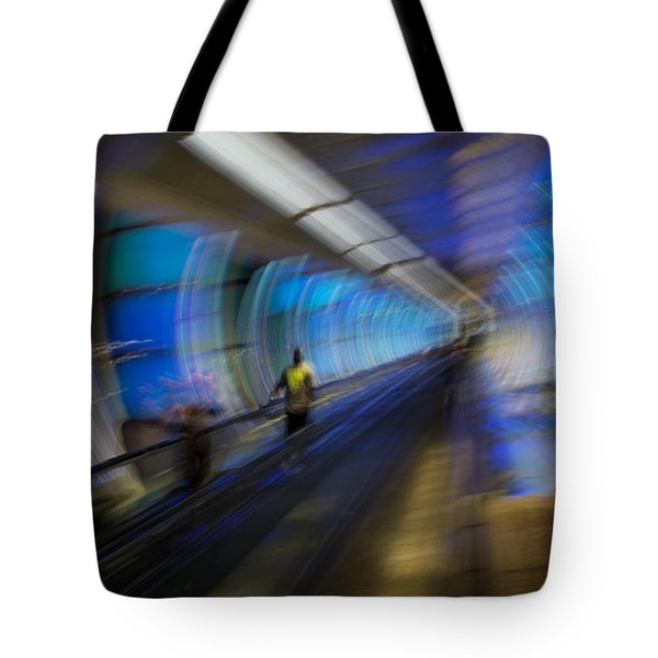 Tote Bag featuring the photograph Quantum Tunneling by Alex Lapidus