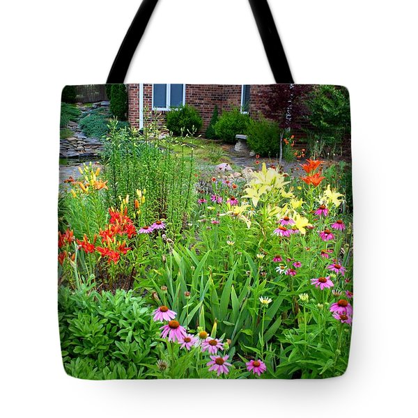 Tote Bag featuring the photograph Quarter Circle Garden by Kathryn Meyer