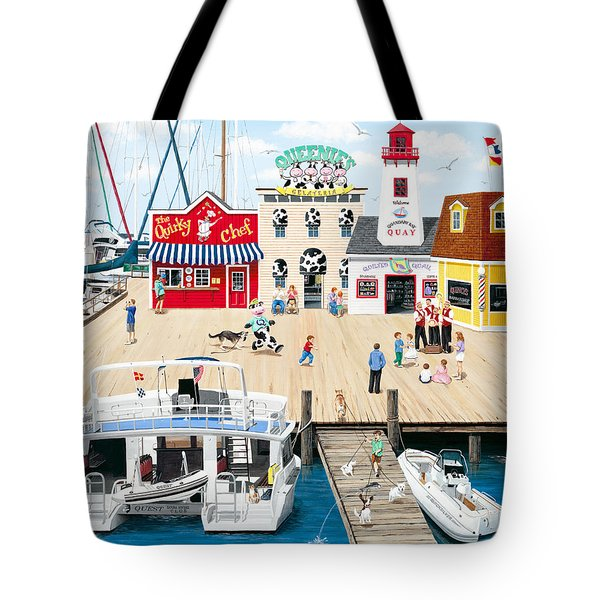 Quartet At The Quay Tote Bag by Wilfrido Limvalencia