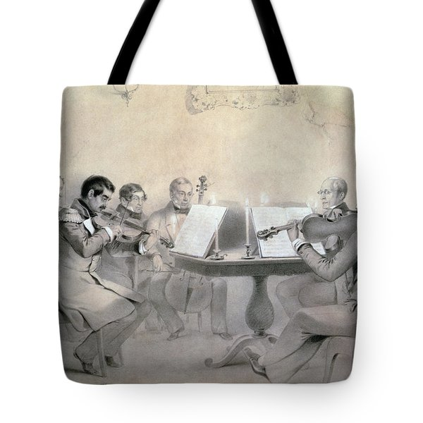Quartet Of The Composer Count A. F. Lvov, 1840 Pencil On Paper Tote Bag