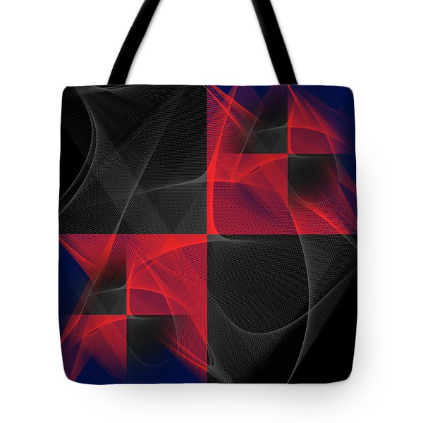 Tote Bag featuring the digital art Quatrin by Karo Evans