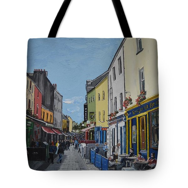 Quay St Galway Ireland Tote Bag