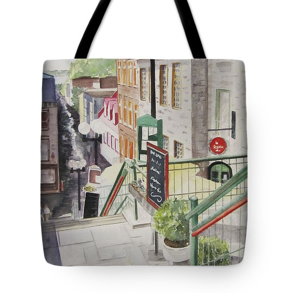 Quebec City Tote Bag