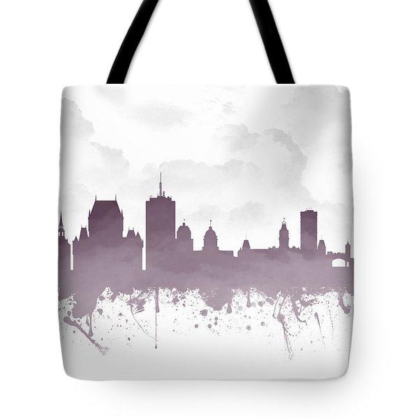 Quebec City Skyline - Purple 03 Tote Bag