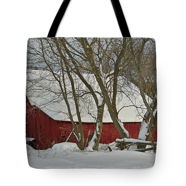 Quebec Winter Tote Bag by Joshua McCullough