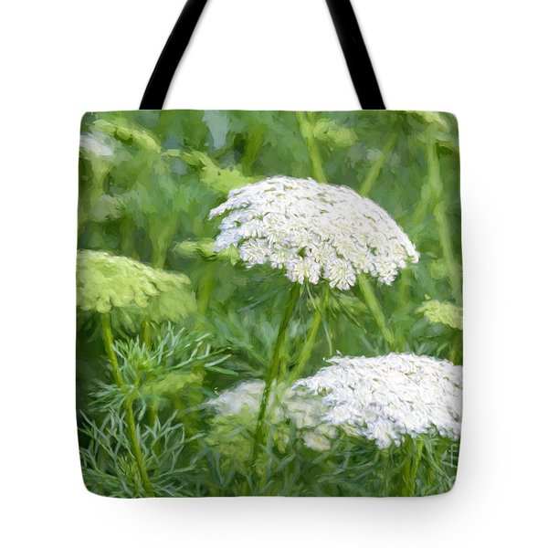 Queen Anne's Lace Impressions Tote Bag