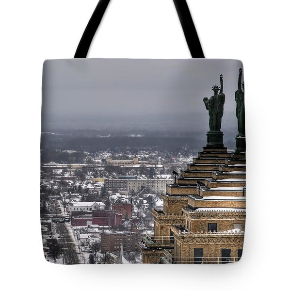 Queen City Winter Wonderland After The Storm Series 0013 Tote Bag