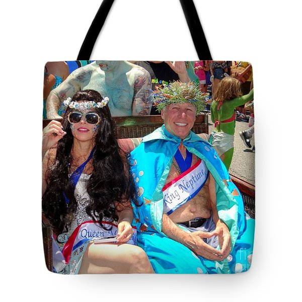 Tote Bag featuring the photograph Queen Mermaid-king Neptune by Ed Weidman