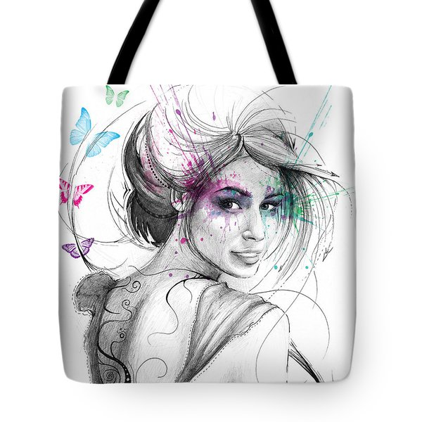 Queen Of Butterflies Tote Bag by Olga Shvartsur