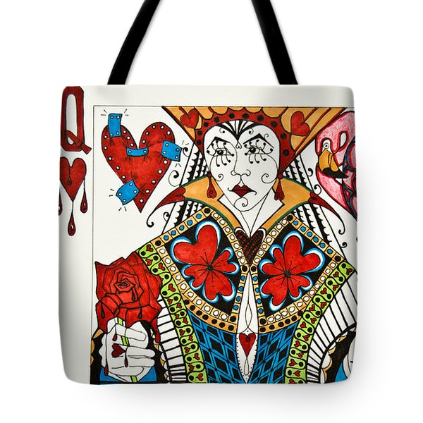 Queen Of Hearts - Wip Tote Bag