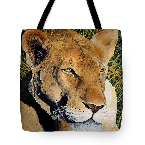 Queen Of The African Savannah Tote Bag by Caroline Street