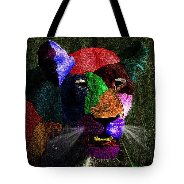 Queen Of The Jungle Featured In Harmony And Happiness-wildlife-nature Photography Groups Tote Bag by EricaMaxine  Price