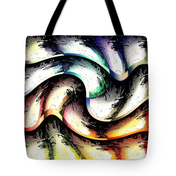Tote Bag featuring the digital art Queenly by Ann Calvo