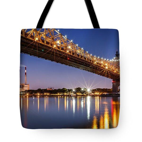 Tote Bag featuring the photograph Queensboro Bridge by Mihai Andritoiu