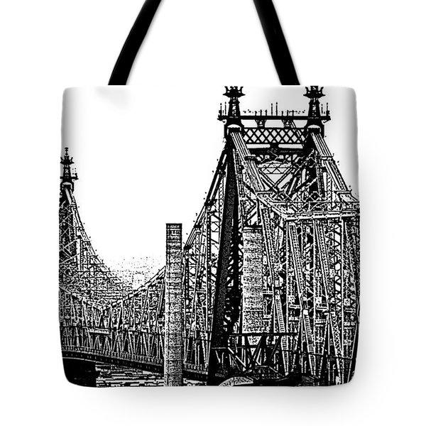 Queensborough Or 59th Street Bridge Tote Bag by Steve Archbold
