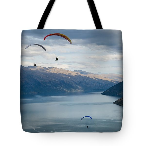 Queenstown Paragliders Tote Bag
