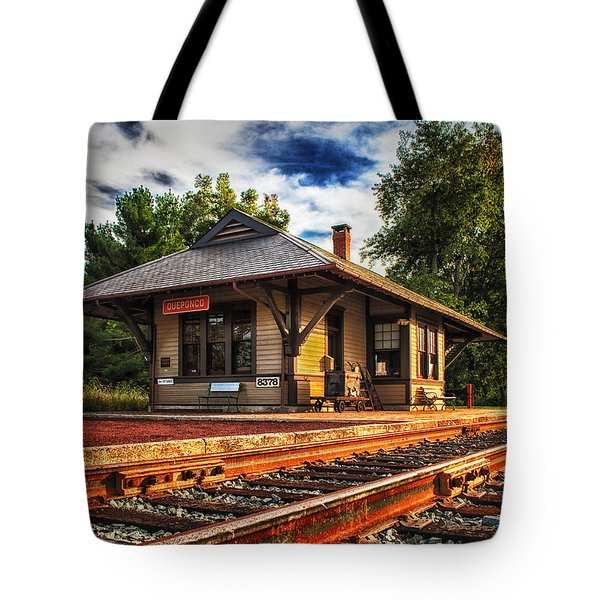 Queponco Railway Station Tote Bag
