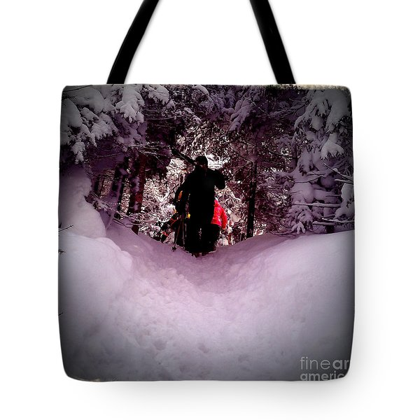 Quest For Powder Tote Bag by James Aiken