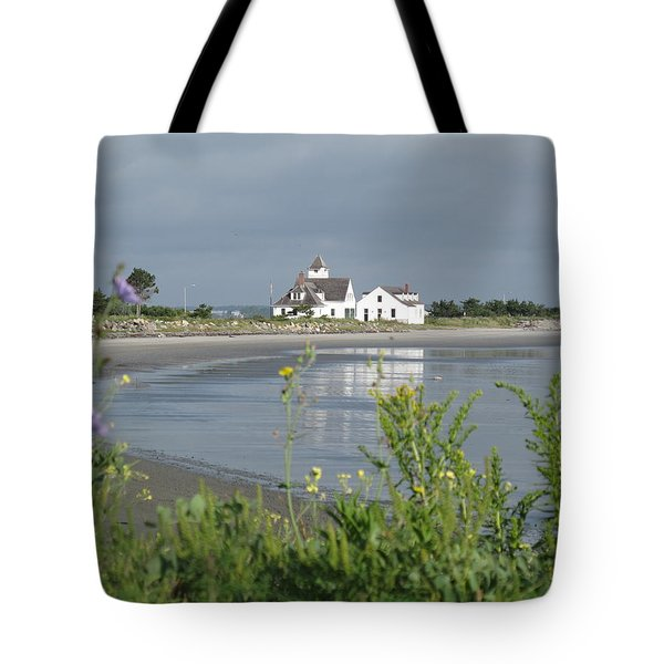 Quiet Beach Nahant Tote Bag by Barbara McDevitt