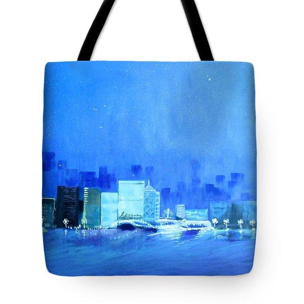 Quiet City Night Tote Bag