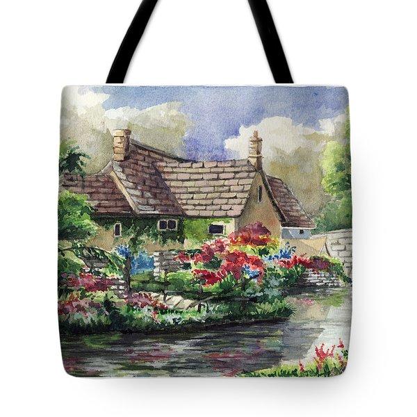 Quiet House Along The River Tote Bag by Alban Dizdari