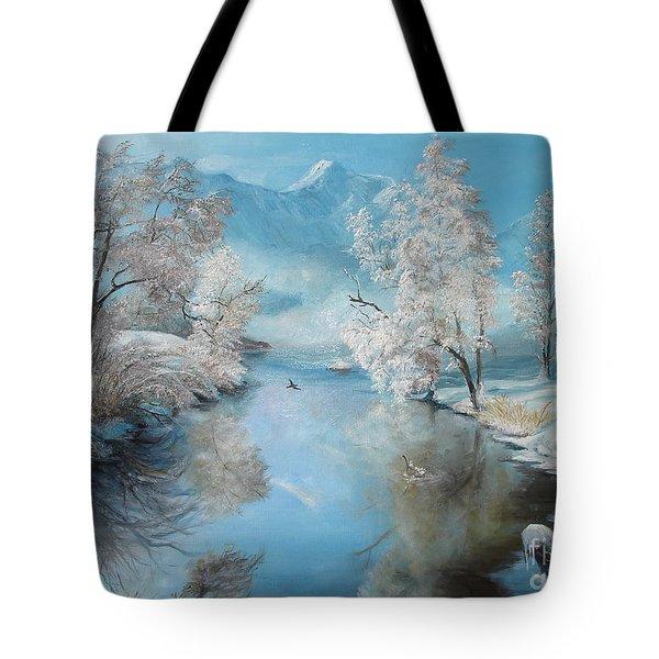 Quiet Ice  Tote Bag