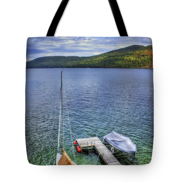 Quiet Jetty Tote Bag by Evelina Kremsdorf