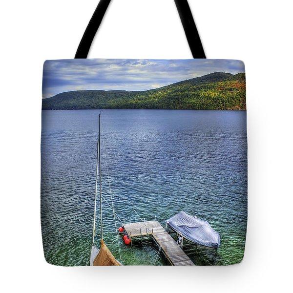 Quiet Jetty Tote Bag by Evelina Kremsdorf