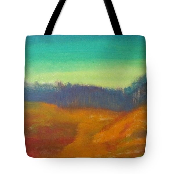 Tote Bag featuring the painting Quiet by Keith Thue
